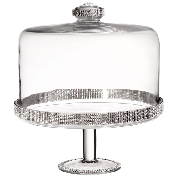ALC 11in x 12in Cake Stand with Dome