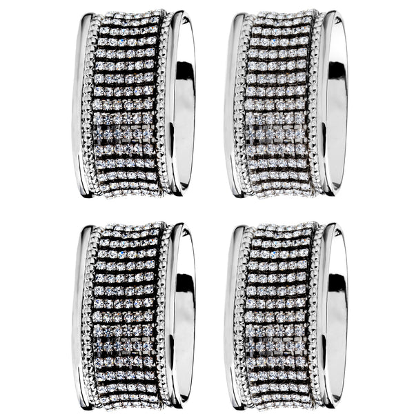 ALC Oval Stainless Steel Napkin Rings (set of four)