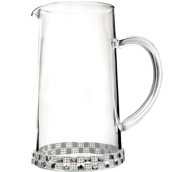 ALC 40 oz Glass Pitcher With Checker Crystals