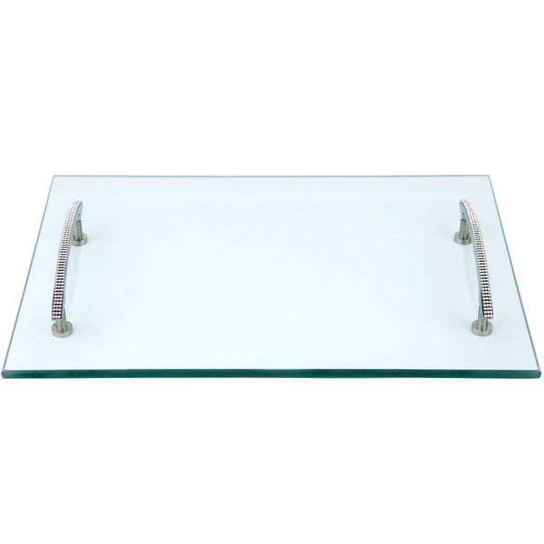 ALC 12 x 18 Glass Tray with Handles