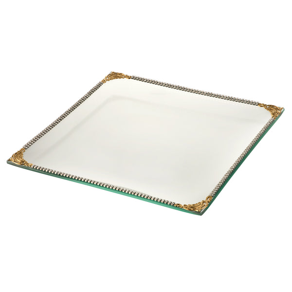ALC Imperial Filigree Glass Square 9 x 9 Tray
