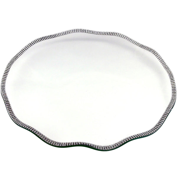 ALC 12 in Scalloped Glass Tray