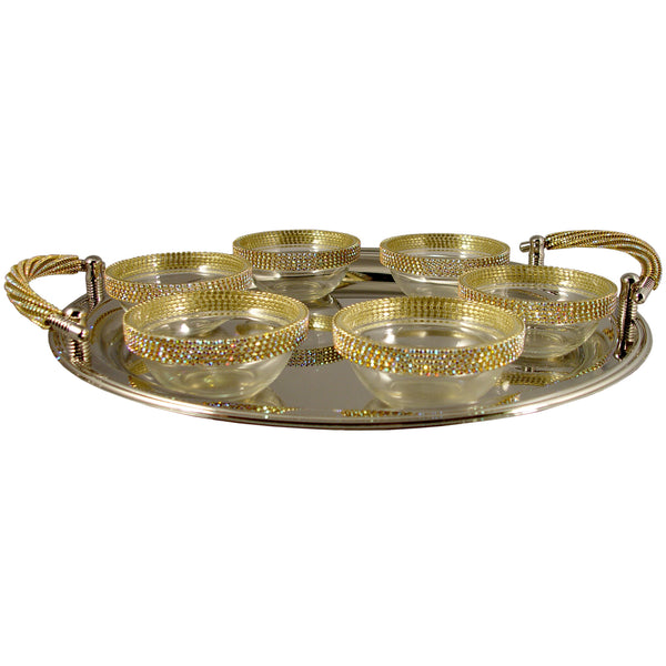 ALC Contemporary Seder Plate with Bowls