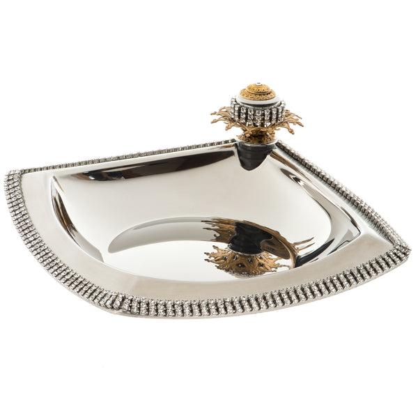 ALC Imperial Filigree Stainless Steel Wine Coaster