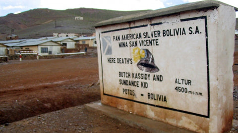 Unofficial grave marker for Butch Cassidy in Bolivia. Credit Tyler Bridges.