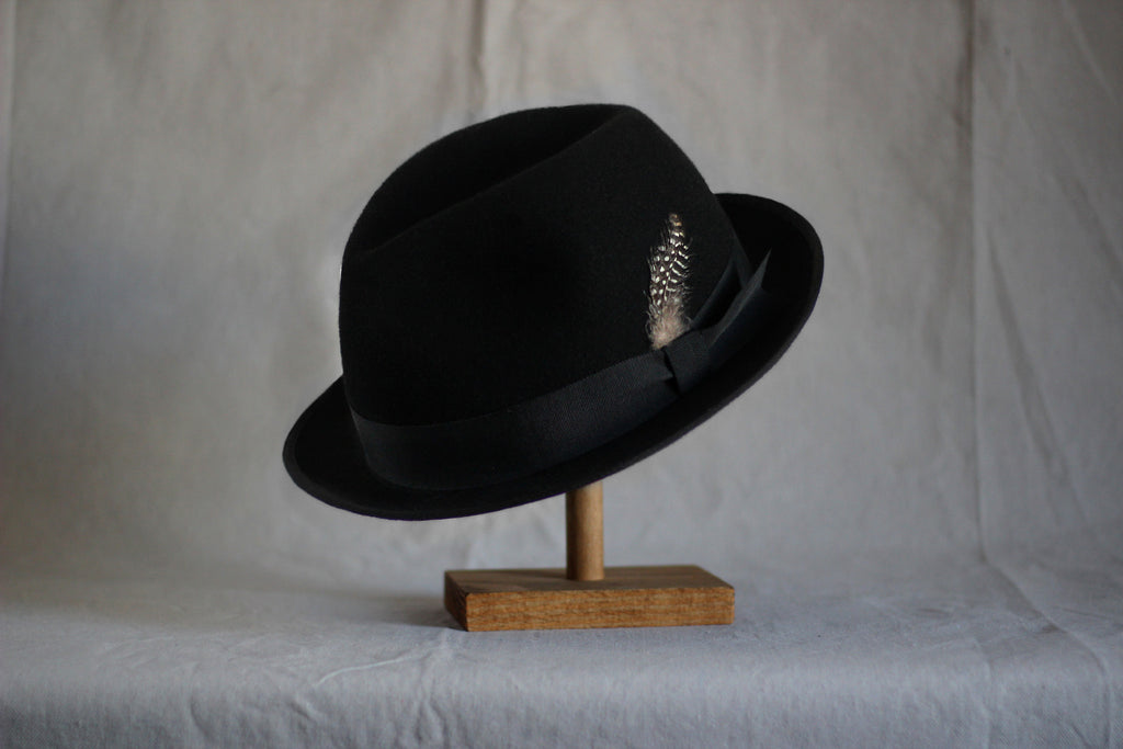 """Old' Faithful "" - Black Trilby"