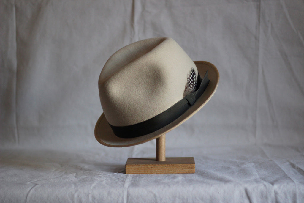 Bone White Trilby Hat