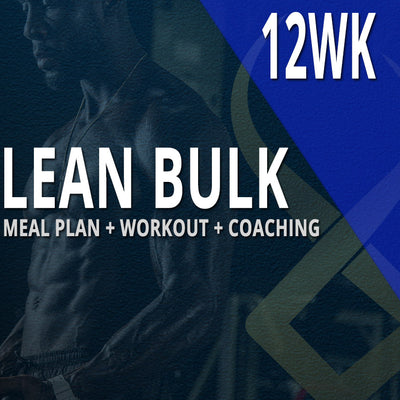 12WK CUSTOM MEAL PLAN + CUSTOM WORKOUT + COACHING: LEAN BULK