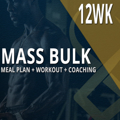 12WK CUSTOM MEAL PLAN + CUSTOM WORKOUT + COACHING: MASS BULK