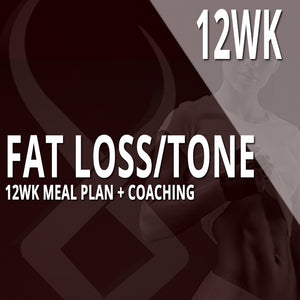 12WK CUSTOM MEAL PLAN + COACHING: FAT LOSS/TONE
