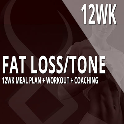 12WK COACHING | FAT LOSS & TONE | CUSTOM PLAN