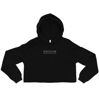 Discipline. Not Motivation. Crop Hoodie
