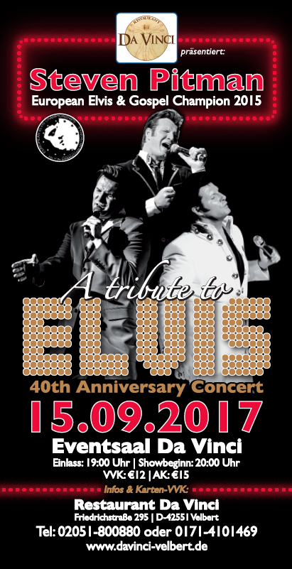 TICKET, LIVE TRIBUTE TO ELVIS, 15.09.2017, VELBERT