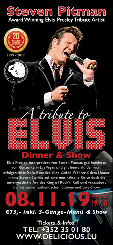 TICKET, A TRIBUTE TO ELVIS, DINNERSHOW, 08.11.2019