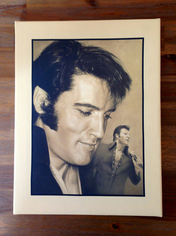 Canvas Print 'Elvis & Steven'