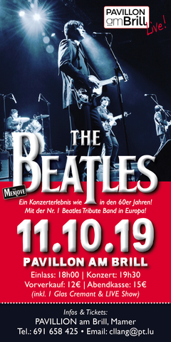 TICKET, THE BEATLES TRIBUTE, CONCERT, 11.10.19