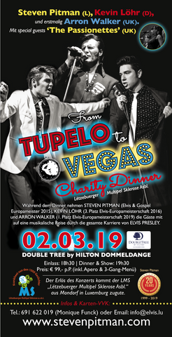 TICKET, FROM TUPELO TO VEGAS - CHARITY DINNER, 02.03.2019