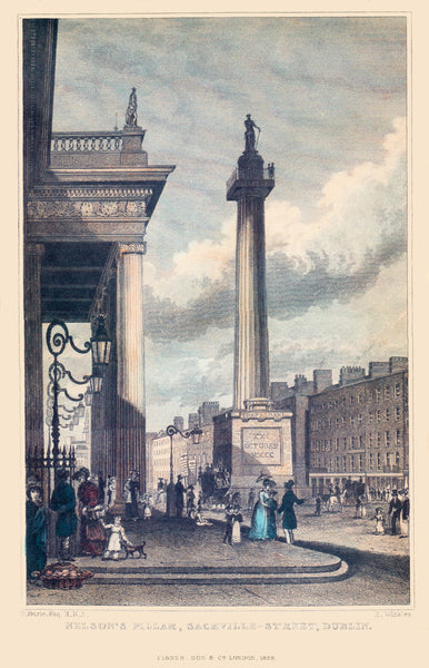 Nelson's Pillar & Sackville (now O'Connell Street) Dublin 1829
