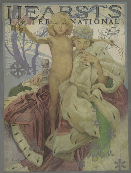 Hearst's International Cover January 1922 New Year brings flowers and thorns special limited edition 2017