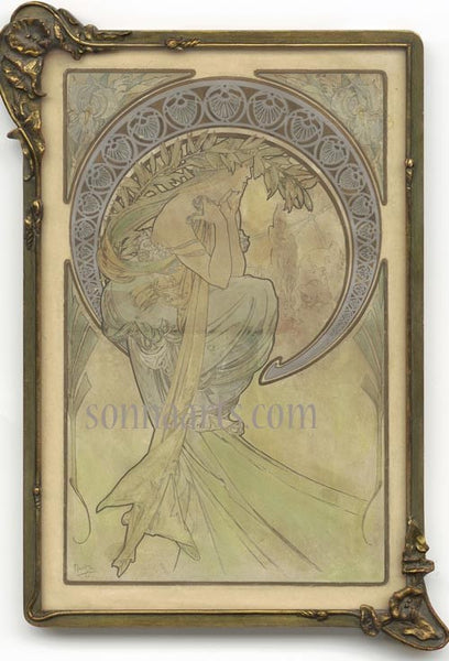 Alfons ( Alphonse) Mucha  Les Arts  LA POESIE special limited edition print