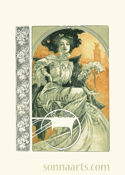 Plate 1 of the folio Documents Decoratifs by Alphonse Mucha special limited edition 2017