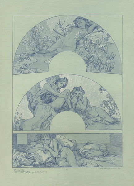 Plate 10 of the folio Figures Decoratives by Alphonse Mucha 1905 special limited edition 2017