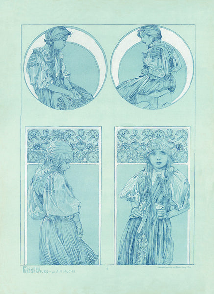 Plate 6 of the folio Figures Decoratives by Alphonse Mucha 1905 special limited edition print 2017