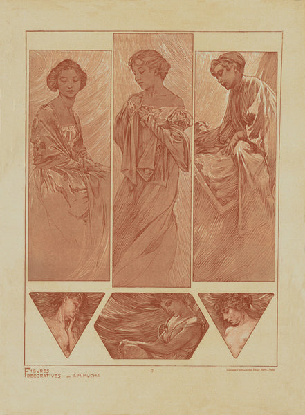 Plate 7 of the folio Figures Decoratives by Alphonse Mucha 1905 special limited edition print 2017