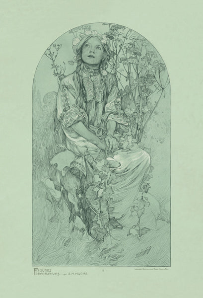 Plate 8 of the folio Figures Decoratives by Alphonse Mucha 1905 special limited edition print 2017