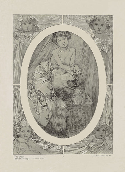 Plate 9 of the folio Figures Decoratives by Alphonse Mucha 1905 special limited edition print 2017