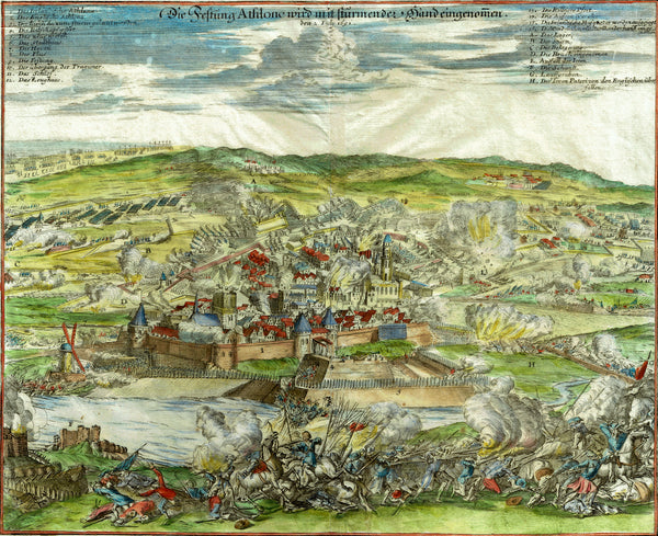 THE SECOND SIEGE OF ATHLONE 1691 limited edition lithograph