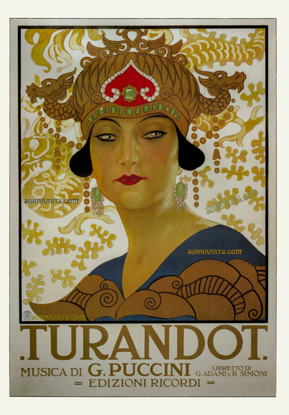 ART DECO PROMOTIONAL POSTER 1926 FOR THE OPERA TURENDOT Limited Edition Print 2017