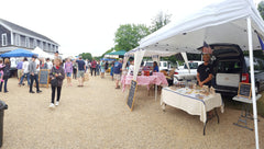 Pano from a cool farmers market morning