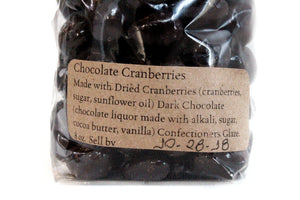 Chocolate Covered Cape Cod Cranberries - Enchanted Chocolates of Martha's Vineyard