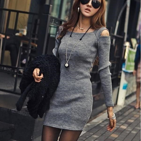 Casual Crew Neck Long Sleeve Dress
