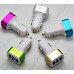 USB Output Car Charger Mini 3 Universal 5.1A High Speed Charger - 1Sam Digital