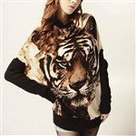 Casual Animal Tiger Print Sweater - 1Sam Digital