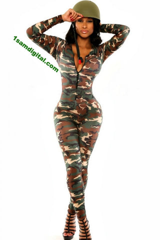 Army Soldier Catsuit