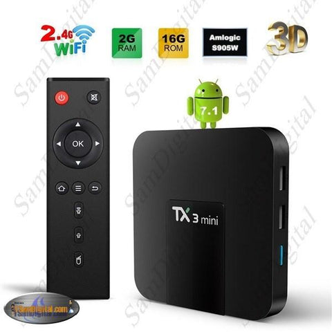TV Box Android 7.1 2GB 16GB HDMI 2.0 4K HD 2.4G Wifi Mini TV Box With Kodi 17.3