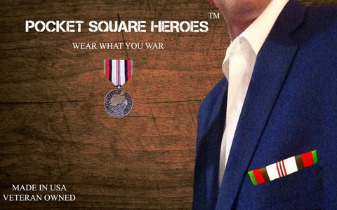 Afghanistan campaign medal Pocket Square Heroes™