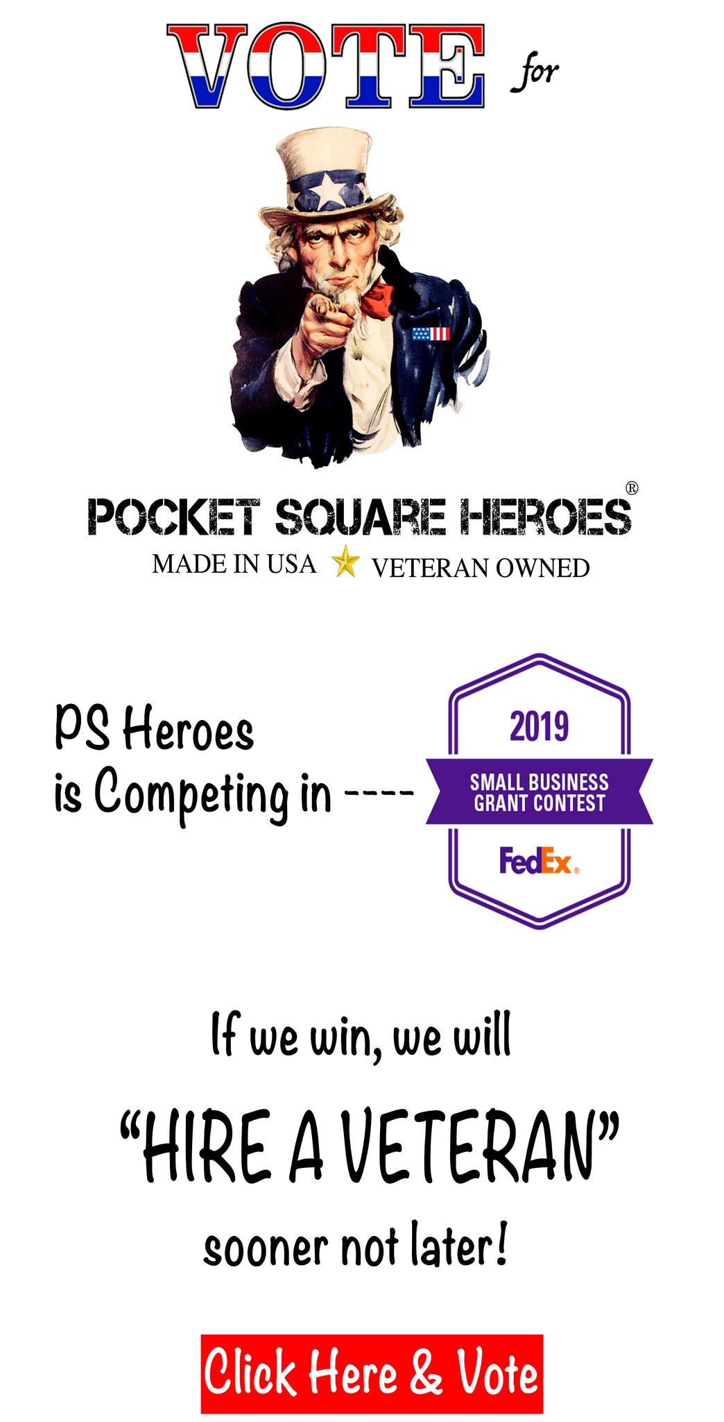 2019 FedEx Small Business Grant Contest, Pocket Square Heroes