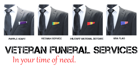 Veteran funeral, medals for military funeral.