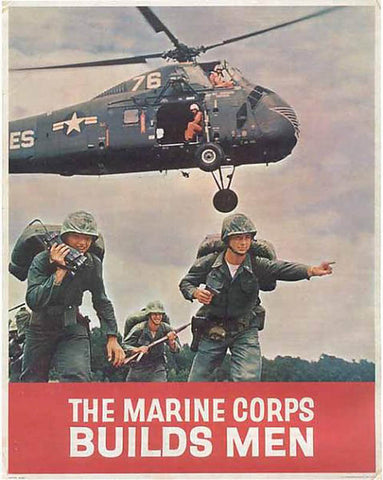 Marine Corps Recruiting Poster by Pocket Square Heroes Blog
