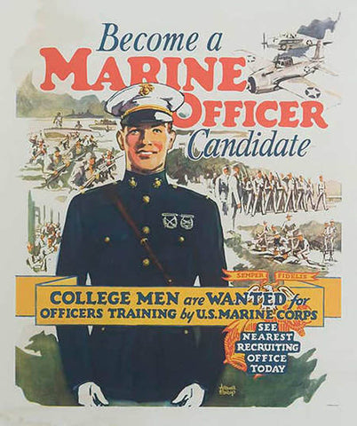 Marine Officer Vintage Poster by Pocket Square Heroes