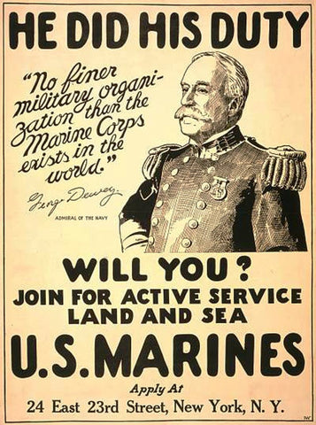Duty USMC Poster By Pocket Square Heroes Blog