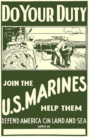USMC Marine Corps Poster by Pocket Square Heroes Blog
