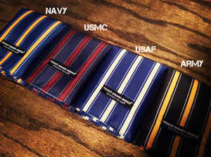 US Military Branch Colors, Pocket Square, Gift for patriotic people.
