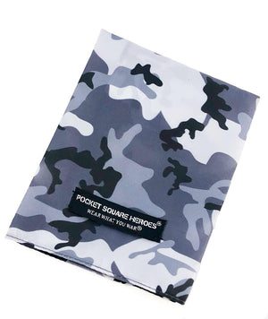 Urban (White/Black) Camouflage Pocket Square
