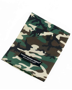 Green Camouflage Pocket Square