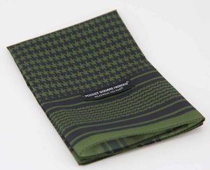 Olive Green Shemagh Pocket Square